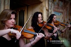 A violin trio provides the perfect soundtrack for ceremonies
