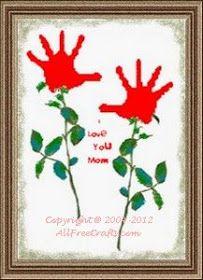 Handprint Valentines for Mom