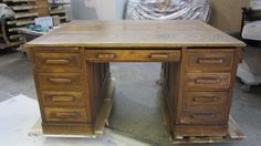 #old #lawyer's #desk to be #repaired & #refinished by AM Furniture Finishing