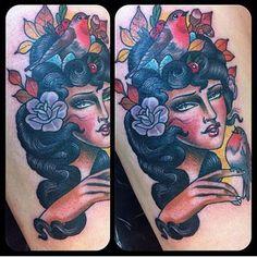 Salon Serpent Tattoo Parlour @salonserpenttattoo Guen Douglas