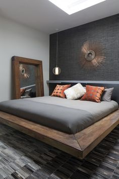 The impact of bedroom furniture will make you have a good night's sleep. Let's face it, and a modern bedroom furniture design can easily make it happen. Gray Bedroom, Bedroom Bed, Bedroom Colors, Home Decor Bedroom, Bedroom Furniture, Furniture Design, Furniture Vintage, Guest Bedrooms, Master Bedrooms