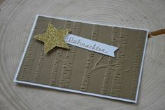 Stampin up Christmascard wood