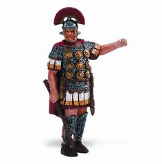 """Historical Collection: Centurion of Ancient Rome by Safari Ltd. $5.99. 3? H (7.5 cm). This Roman Army officer was so named because he commanded a """"century""""- a group of 100 men.. This brave Centurion commands his troops into battle. Our historical collections feature professionally sculpted replicas in realistic poses. They are perfect for imaginative play, classroom use, historical displays, or collecting."""