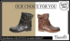 TRONCHETTO SAVAGE: Our choice for YOU!!!  #Stivale #tacco basso in pelle -35%!!!  100% Made in Italy!!!