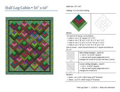 """""""Half Log Cabin"""" quilt pattern for St Vincent Passage Quilts  (Feb. 2015)  Try this design in batiks!"""