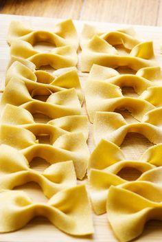 Homemade Garbanzo Bean Flour Bow-tie Pasta