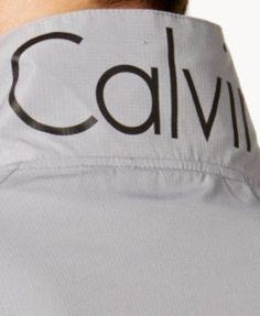 Calvin Klein Men's Contrast-Trim Windbreaker - Black XXL