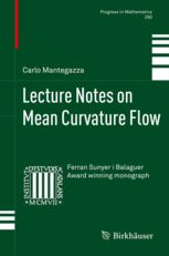 lecture notes on mean curvature birkhauser - Buscar con Google