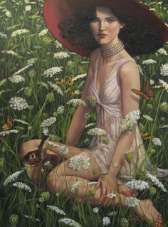 Eostre, Anglo Saxon goddess of transition.  Celebrated during Eostremonath which is in spring.  Easter is named after her art by Lauri Blank |