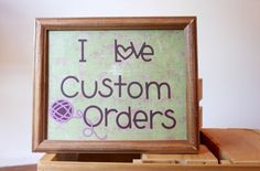 Great way of promoting custom orders