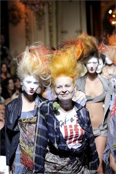 Vivienne Westwood: the mother of punk. Never afraid of being eccentric or having and opinion. One's gotta admire that.