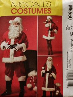Santa Claus Christmas Costume Pattern 5550  SL  by SewStitchQuilt, $7.00