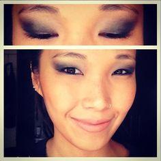#Blackeye e boca nude para o terceiro e último dia de#Lollapalooza2013 #asianmakeup#makeup #nipotips
