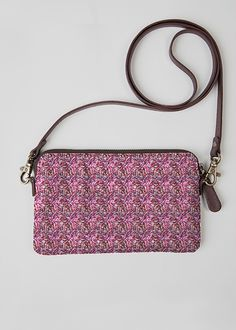 VIDA Leather Statement Clutch - Floral Tropical 02 by VIDA I24kpoXQFI