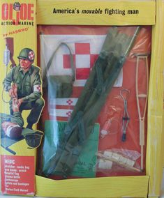 The Medic accessories brought a new level of realism to the line allowing kids to act out not just the glories, but also the horrors of combat. Considering the number of figures and fatigues. Childhood Games, Childhood Memories, Gi Joe, Retro Toys, Vintage Toys, Nerd Cave, Happy 50th Birthday, Japanese Toys, Antique Toys
