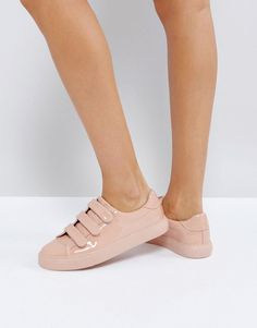 ASOS DIDI Strap Sneakers - Beige