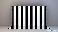 This Black Vertical Stripes Photography Backdrop is offered in two different materials; a 13oz matte finish scrim vinyl and a lightweight poly paper. Drops & Props Photography Backdrops are not only durable but are also the highest quality on the market!