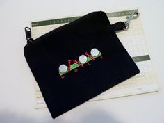 Golf Accessory Bag  Golf Balls and Tees by bagsbybrenda on Etsy