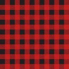 Silhouette Design Store: red buffalo check plaid pattern
