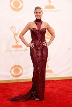 Heidi Klum in Atelier Versace at the 2013 Emmys.