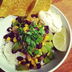 Rice bowl with black beans, corn and chipotle from Blog de cuisine [wannabe]