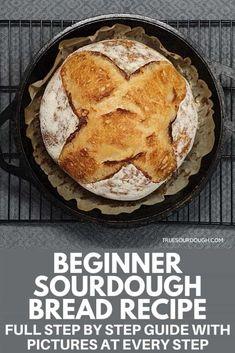 Easy Sourdough Bread Recipe, Sourdough Bread Starter, Bread Recipes, Baking Recipes, Starter Recipes, Baking Tips, Fermented Bread, Veggie Muffins, Oatmeal Bread
