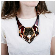 Handmade Crest Necklace by Wolf & Moon.