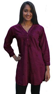 $30  many sizes.  This is the magenta color.    Ayurvastram Pure Cotton Shirt Tunic Top Kurti: Magenta; Size 14 Ayurvastram http://www.amazon.com/dp/B00PLAFG62/ref=cm_sw_r_pi_dp_vXIYub100NWN0