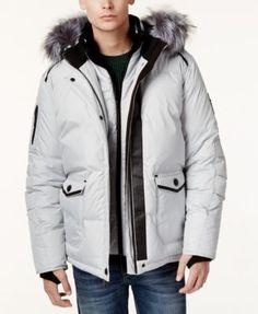 dd6d585c68498 Point Zero Faux-Fur-Trim Layered Ripstop Coat   Reviews - Coats   Jackets -  Men - Macy s