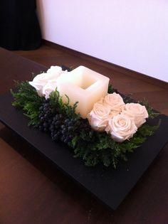 Preserved Flower Eka Art Style Course Candle Arrangement