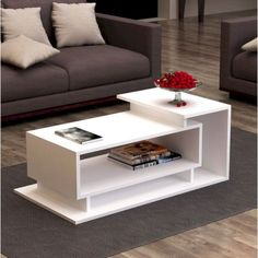 Table Basse Colindas Modern living room style is easy to create with this Colindas Coffee Table! It features a simple, asymmetric design and three shelves. You'll love having your favorite books, magazines or media items easily accessible. Coffee Table Design, Diy Coffee Table, Modern Coffee Tables, Cofee Tables, Modern Table, Coffee Coffee, Coffee Table Furniture, Coffee Club, Contemporary Coffee Table