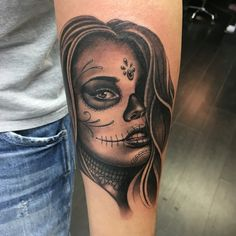 La Catrina, day of the dead tattoo!! I'm tattooing out of Fudoshin Tattoos south Woodford and Love Hate Social Club. Just started Pinterest! All new to me!!