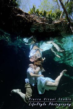 trash the wedding dress underwater photo shoot
