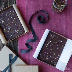 Combine Chocolate bark and tea leaves to make this easy recipe. Package this one as a hostess gift for your next holiday party.