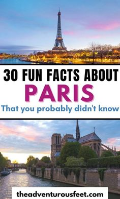 Do you want to learn more about the French capital? Here are the most interesting facts about Paris you probably didn't know.| fun facts about Paris| facts about Paris for kids| amazing facts about Paris France| things to know about Paris| Paris facts for kids| Paris fun facts| Paris catacombs facts| Paris facts for tourists| Eiffel Tower interesting facts| Paris history facts Paris Tips, Paris Travel Tips, Amazing Facts, Interesting Facts, Paris Paris, Paris France, Facts For Kids, Fun Facts, Paris Bucket List