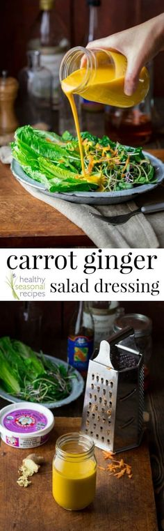 4 Cycle Fat Loss Japanese Diet - carrot ginger salad dressing - Healthy Seasonal Recipes - Discover the World's First & Only Carb Cycling Diet That INSTANTLY Flips ON Your Body's Fat-Burning Switch Raw Food Recipes, Vegetarian Recipes, Cooking Recipes, Healthy Recipes, Healthy Japanese Recipes, Carrot Salad Recipes, Vegetarian Barbecue, Water Recipes, Vegetarian Cooking