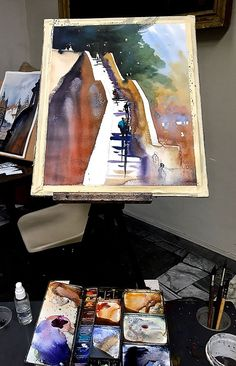 Thomas W Schaller   Quick Day One Demo #2 - Value, light and shade, luminosity of shadows and power of complementary tones. — at Rome, Italy.