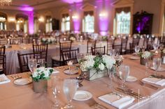 Love the blush colors, rustic floral and of course Lovett Hall