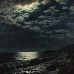 """ Ivan Fedorovich Choultsé – was a Russian landscape painter, who painted realistic landscapes and excelled in the. Art Day, Moon Art, Moonlight, Moonlight Painting, Art, Night Art, Dark Art, Ukrainian Art, Landscape Art"