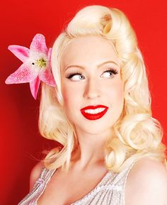 Your favorite hairstyle...Love the Pin up style with the flowers