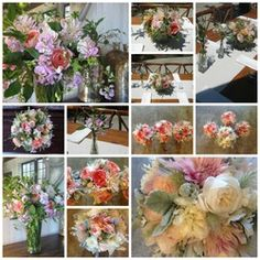 Wedding Flower & Table Collage
