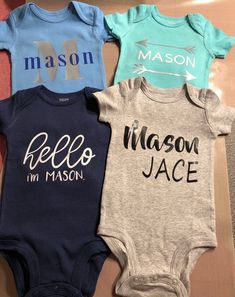 Newest Family Member Embroidered Baby Vest Gift Personalised New Arrival