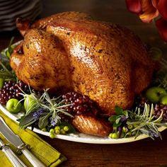 Roast Turkey with Wild Mushroom Gravy Recipe