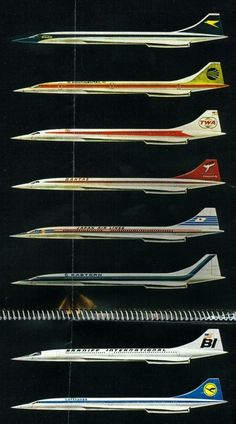 Concorde, the Airlines that had ordered the Concorde. Very telling about how aggressive airlines have faired in the marketplace. British Airways, Air France, Civil Aviation, Aviation Art, Concorde, Airplane Art, Airplane Design, Air Festival, Commercial Aircraft