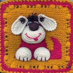 ❤ ♥ Ahhh Adorável! Quadrado, Cão Padrão.  /  Ahhh Adorable! Squre Dog, no Pattern.   ❤ ♥