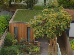 Garden rooms can also be designed with a green roof - even more eco-friendly!