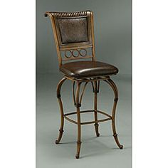 @Overstock.com - Rio Branco 30-inch Swivel Barstool - This luxurious Rio Branco 30-inch swivel stool is wonderful, with the modern improvements you require in an elegant barstool.  The seat swivels 360 degrees, and it is well complemented by footrests. It provides excellent high-back support.  http://www.overstock.com/Home-Garden/Rio-Branco-30-inch-Swivel-Barstool/3607624/product.html?CID=214117 $199.99