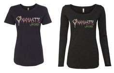 namaste witches tank tee or long sleeved top for halloween by yogatops on Etsy