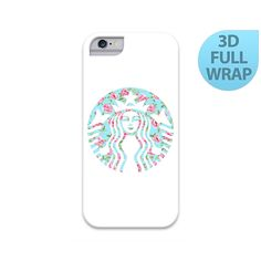 Floral Starbucks Logo Case for iPhone 4 4s 5 5s 5C 6 Plus iPad 2 3 4 Air Mini Samsung Galaxy S5 S4 Note 4 3 2 by GiftsMK on Etsy https://www.etsy.com/listing/232771196/floral-starbucks-logo-case-for-iphone-4