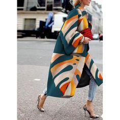 Coats & Jackets, Mode gedruckt Farbe Langarm Mantel Coat Outfit, Coat Dress, Mode Mantel, Winter Stil, Casual Winter, Collor, Looks Cool, Trench Coats, Women's Coats